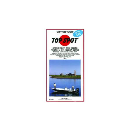 Top Spot Map- Stono River Folly Island to Fripp Island-GPS,