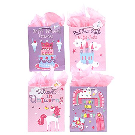 FLOMO Large Princess Girls Unicorn Party Birthday Gift Bags