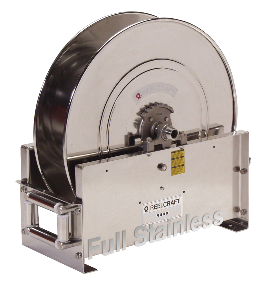 """Reelcraft D9200-OLS-S 1 2"""" x 100' Ultimate Duty Stainless Hose Reel, 500 PSI No Hose by Reelcraft"""