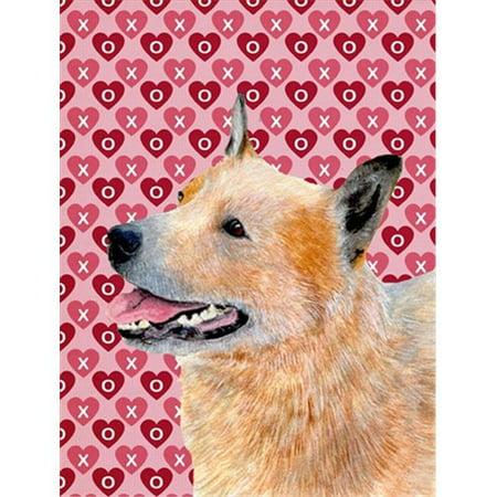 11 x 15 in. Australian Cattle Dog Hearts Love Valentines Day Flag Garden Size - image 1 de 1