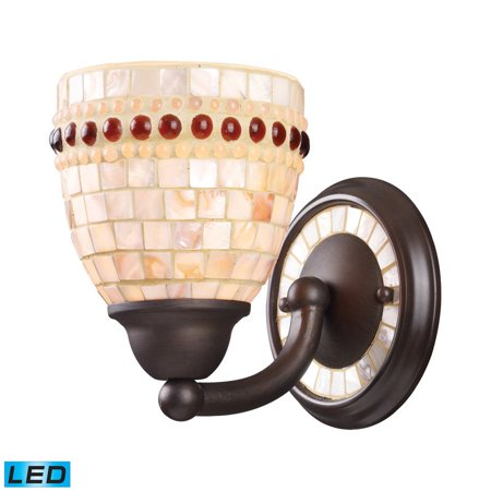 Elk Lighting Roxana 1-Light Sconce in Aged Bronze Aged Bronze Elk Lighting