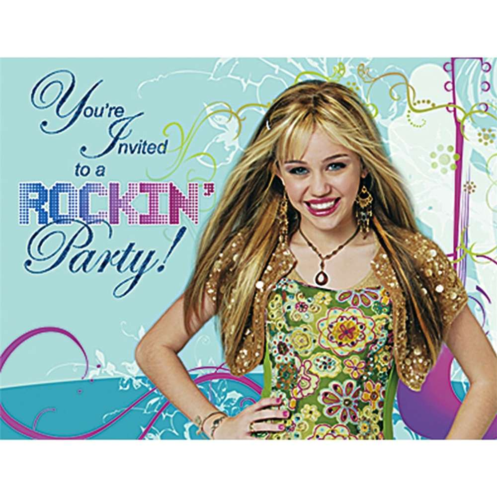 Hannah Montana Party Invitations Party Supplies