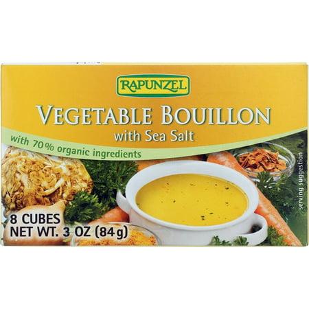 Vegetable Bouillon with Sea Salt, 3 oz (8 cubes) (No Salt Bouillon)