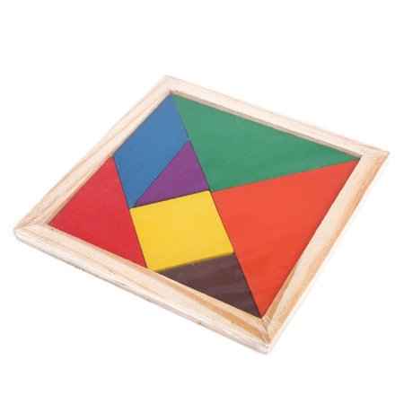 Baby Toys Tangram Wooden Puzzle Educational Developmental Kids Toy Gift New
