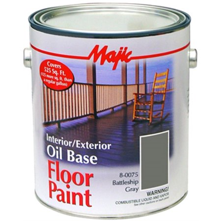 8 0120 Gal Bat Ship Gray Latexint Ext Floor Paint Yenkin Majestic Corp