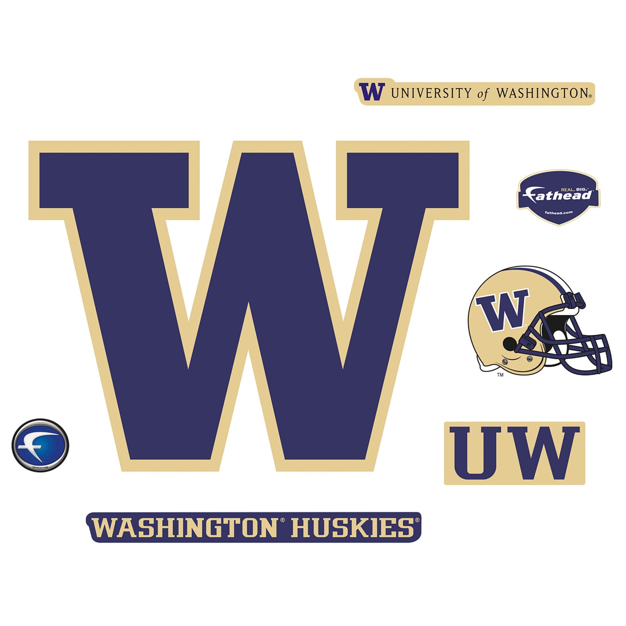 Washington Huskies Combo Logo Vinyl Decal Sticker UW