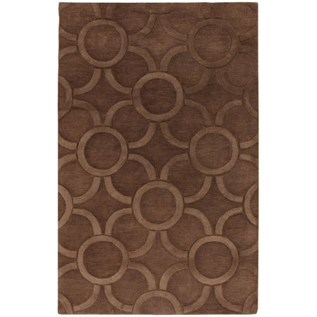 Contemporary Antara Collection Area Rug in Brown and Oval, Rectangle, Round, Runner Shape (7 9 Round Antara)