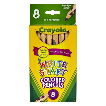 Crayola 8 Count Write Start Colored Pencils (Pack Of - Crayola 100 Colored Pencils