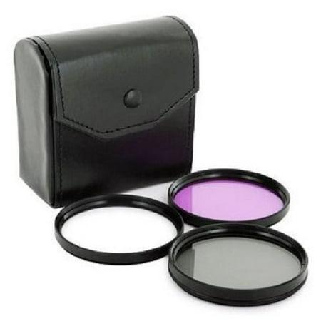 52mm Bullet Optics 3pc Multi-Coated Essential Lens Filter Kit (UV + CPL + FLD) for Canon EF 35mm f/2 Lens (Lens Bullet)