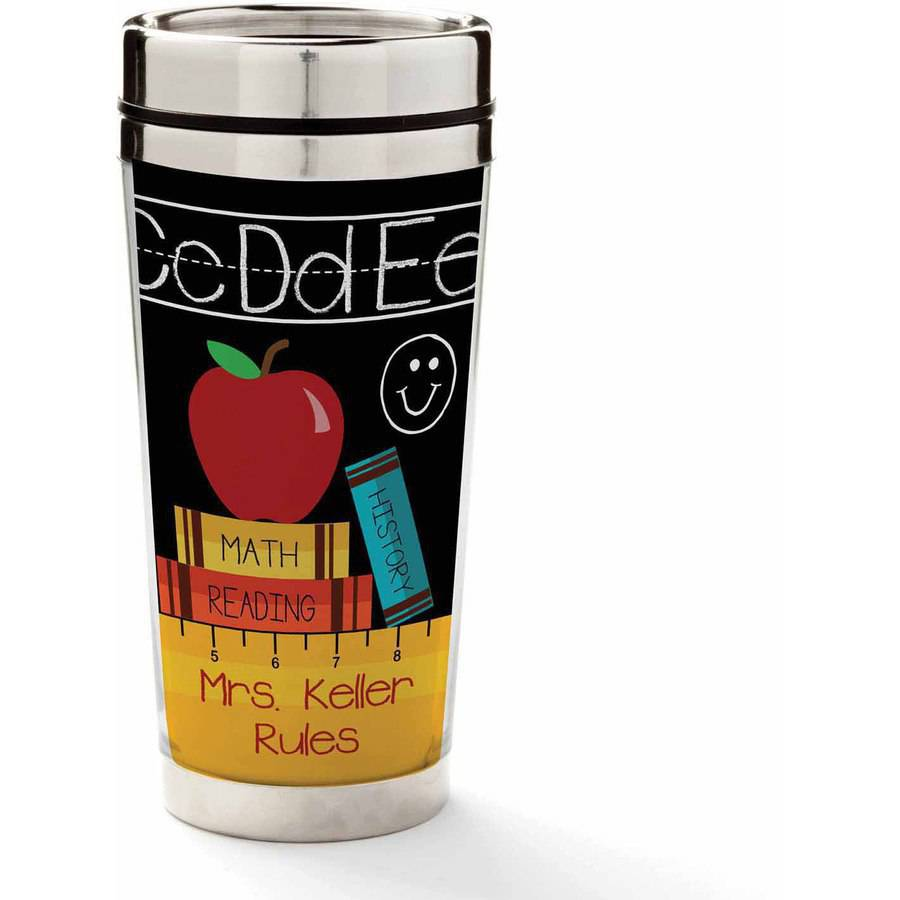 Personalized Teachers Rule Travel Coffee Mug
