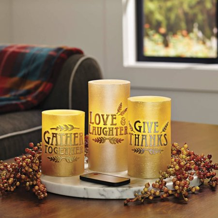 Better Homes And Gardens 3 Pack Led Pillar Candles