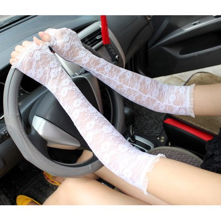 Sexy Women's Lace Fingerless Wedding Party Bridal Long Length Arm Elbow Gloves