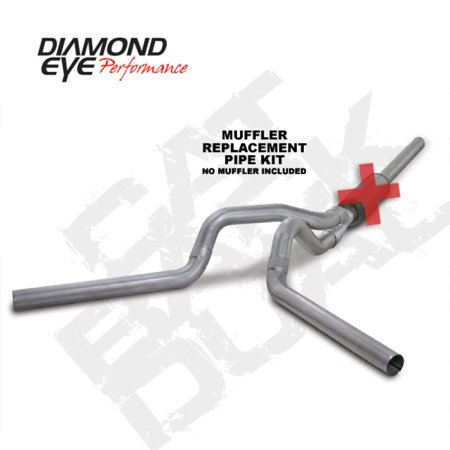 Diamond Eye KIT 4in CB MFLR RPLCMENT PIPE DUAL AL: 2004.5-2007.5 DODGE CUMMINS 600