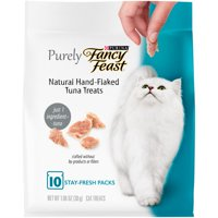Fancy Feast Natural Cat Treats, Purely Natural Hand-Flaked Tuna, 10 ct. Pouch