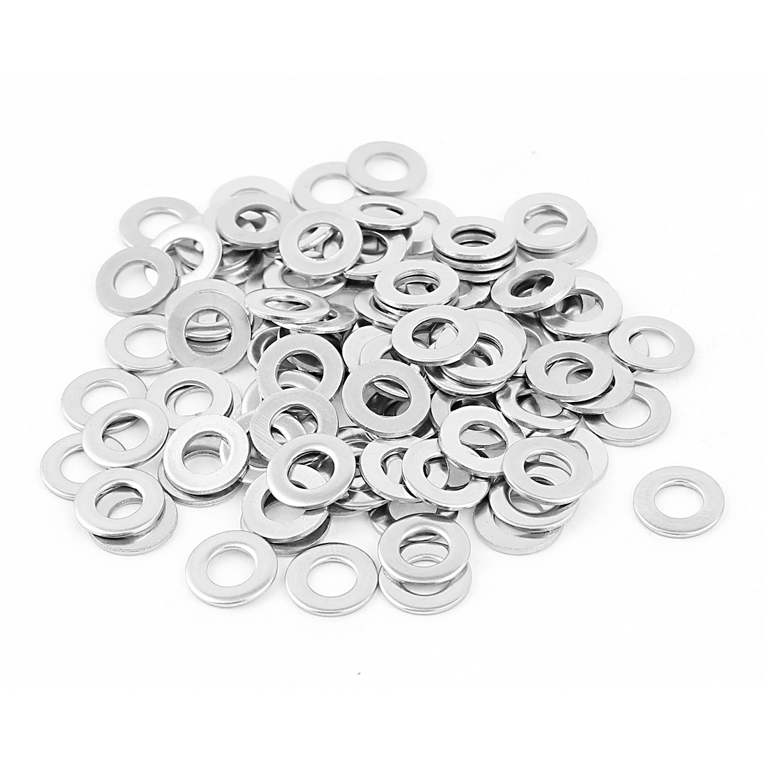 Uxcell M5 x 10mm x 1mm 304 Stainless Steel Flat Washer for Screw Bolt (100-pack)