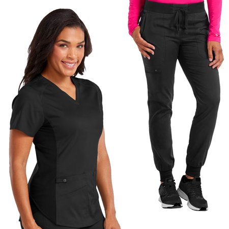 de8bab53c6f Med Couture - Med Couture NEW TOUCH Women's V-Neck Shirttail Scrub Top &  Jogger Yoga Scrub Pant Set [XS - 3XL, FREE SHIPPING] - Walmart.com
