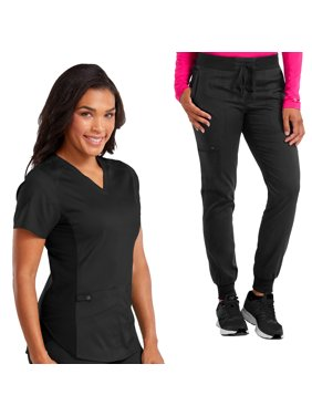 f8b76f7554af Product Image Med Couture NEW TOUCH Women's V-Neck Shirttail Scrub Top &  Jogger Yoga Scrub Pant