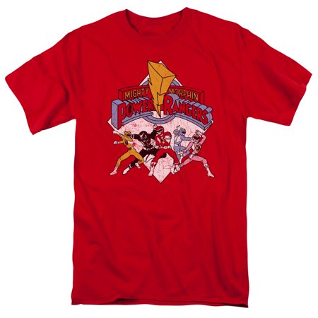 Power Rangers/Retro Rangers S/S Adult 18/1 Red Pwr104 - Power Rangers Outfits Adults