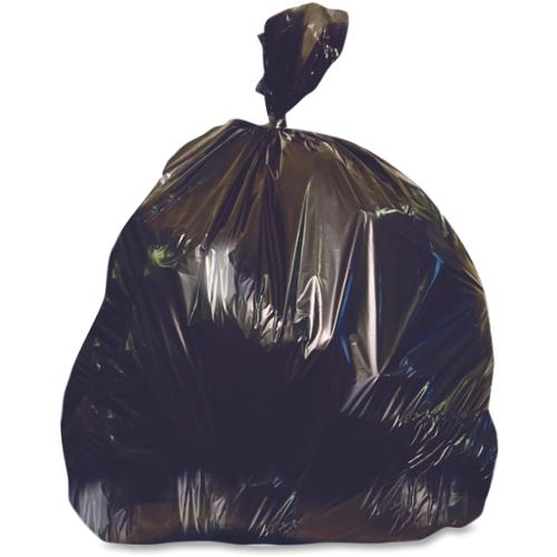 "Heritage X-Liner Trash Bag - 45 gal - 40"" Width x 46"" Length x 1.50 mil (38 Micron) Thickness - Low Density - Black - Re"