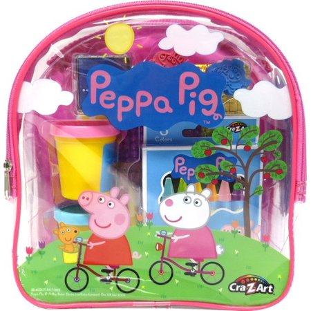 Peppa Pig Ultimate Activities Backpack (Pink or blue, color may vary) - Peppa Pig Painting