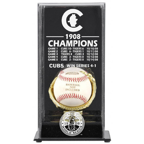 MLB - 1908 Chicago Cubs World Series Champs Display Case