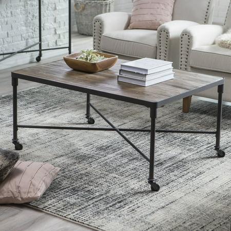 Reclaimed Wood Metal Coffee Table.Belham Living Franklin Reclaimed Wood Industrial Coffee Table