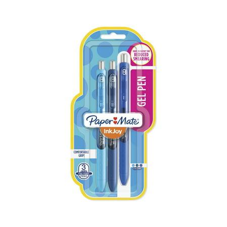 Paper Mate InkJoy Gel Pens, Fine Point Blue 3-Pack Image