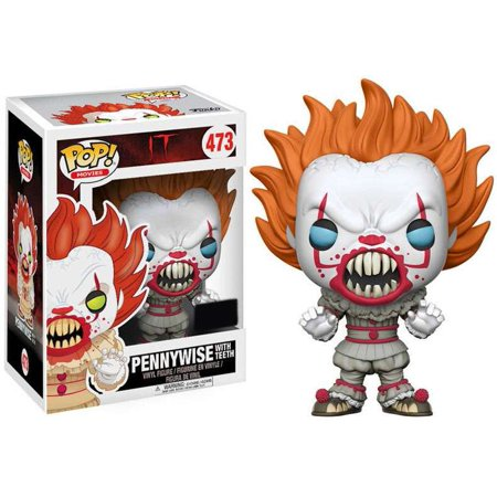 Funko Pop  Movies Pennywise With Teeth Vinyl Figure  Yellow Eyes