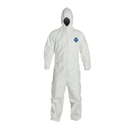 TY127S Tyvek Protective Coverall with Hood with Safety Instructions, Elastic Cuff, L, White (Retail Package of 1), DuPont Tyvek coverall By DuPont,USA 2 X Tyvek Coveralls