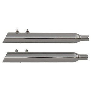 "Rush Exhaust 3.5"" Mufflers 1.75"" Slash Up/Chrome Fits 98-13 Harley-Davidson FLHRC Road King Classic"
