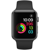 Refurbished Apple Watch Series 1, 42mm Aluminum Space Gray Case with Black Sport Band