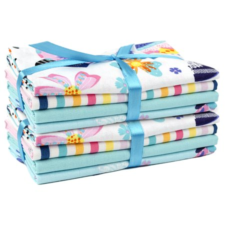 "Fabric Editions, Cotton Fabric, Fat Quarter 5pc Bundle Set Of 2, ""18x21"", Spring Floral"