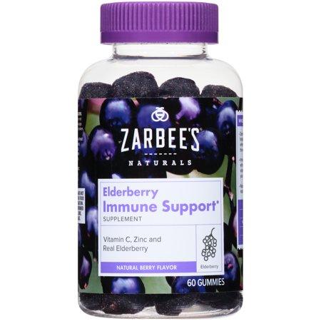Zarbee S Naturals Elderberry Immune Support Gummies 60 Ct