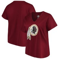 188c3b911a1 Product Image Women s Majestic Burgundy Washington Redskins Plus Size Logo  V-Neck T-Shirt