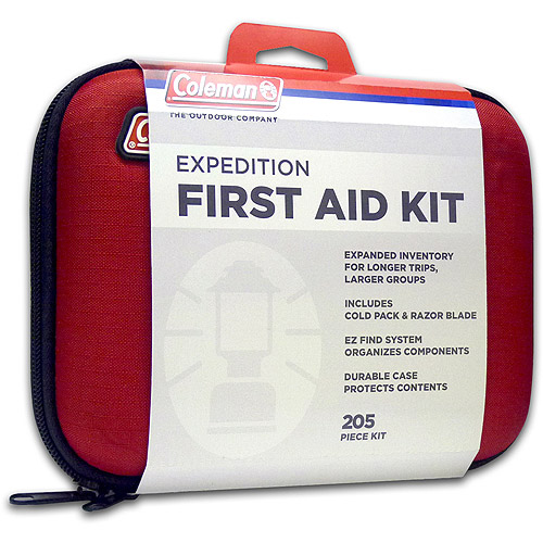 Coleman Expedition First Aid Kit, 205 items, Red