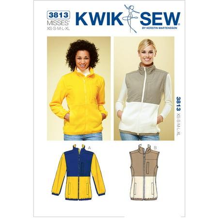 Kwik Sew Pattern Jacket and Vest, (XS, S, M, L, XL)