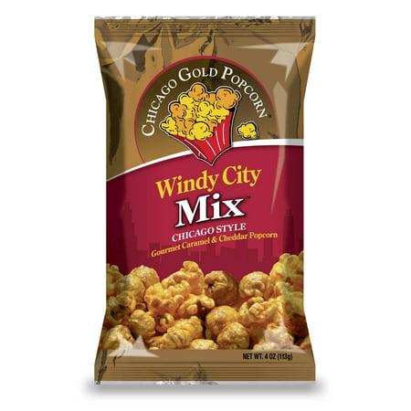 (4 Pack) Chicago Gold Popcorn Windy City Mix, 4.0 - Windy City Beverage