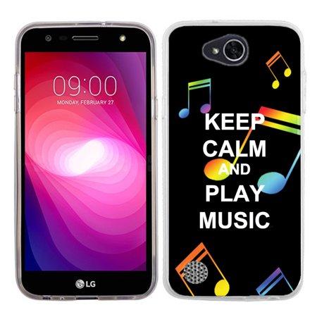 Slim Case for LG X Power 2 / LG Fiesta 4G LTE, OneToughShield ® Premium TPU Gel Phone Case - (Keep Calm Music) - Halloween 2 Chase Music