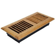 Imperial Manufacturing RG2194 4 x 10 in. Oak Louvered Floor Register
