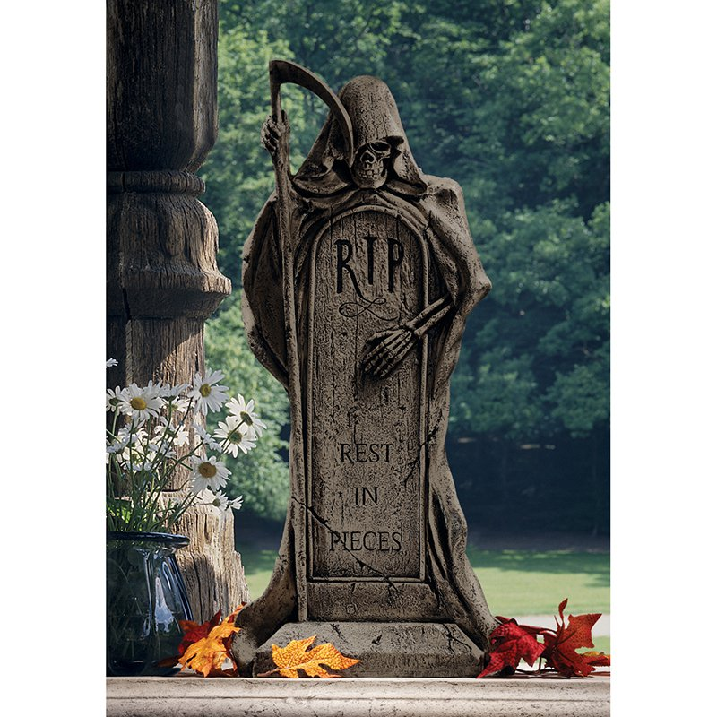 Design Toscano Rest in Pieces Grim Reaper Tombstone Statue by Design Toscano
