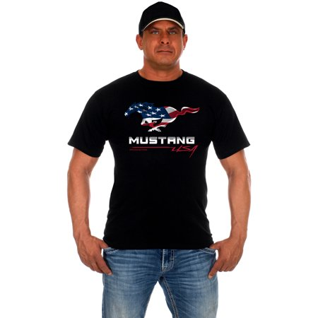 JH DESIGN GROUP Men's Ford Mustang USA T-Shirt (Best Way To Design T Shirts)