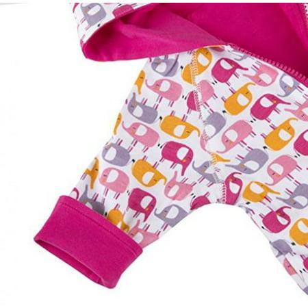 Zutano Reversible Hoodie Jacket, Ellas Elephants, 24 Months