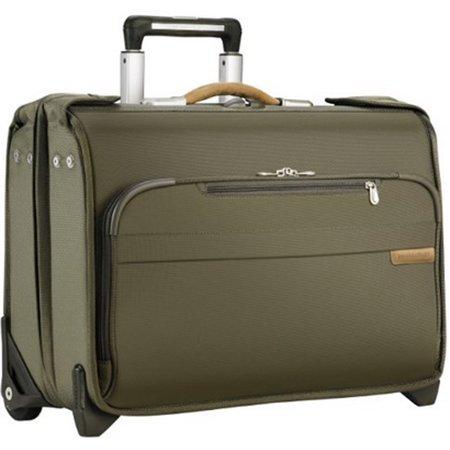 Briggs Riley Baseline Carry On Wheeled Garment Bag Olive U174 7