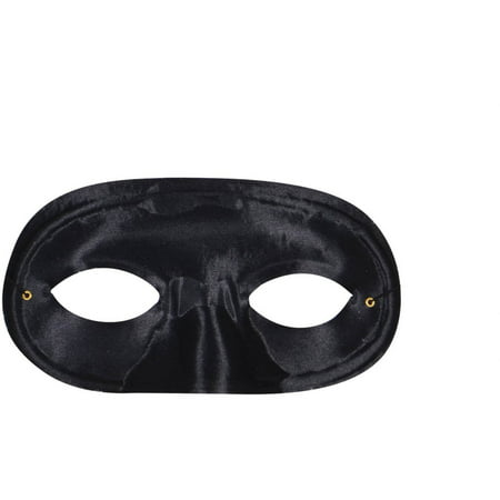 Black Half Domino Mask Adult Halloween Accessory