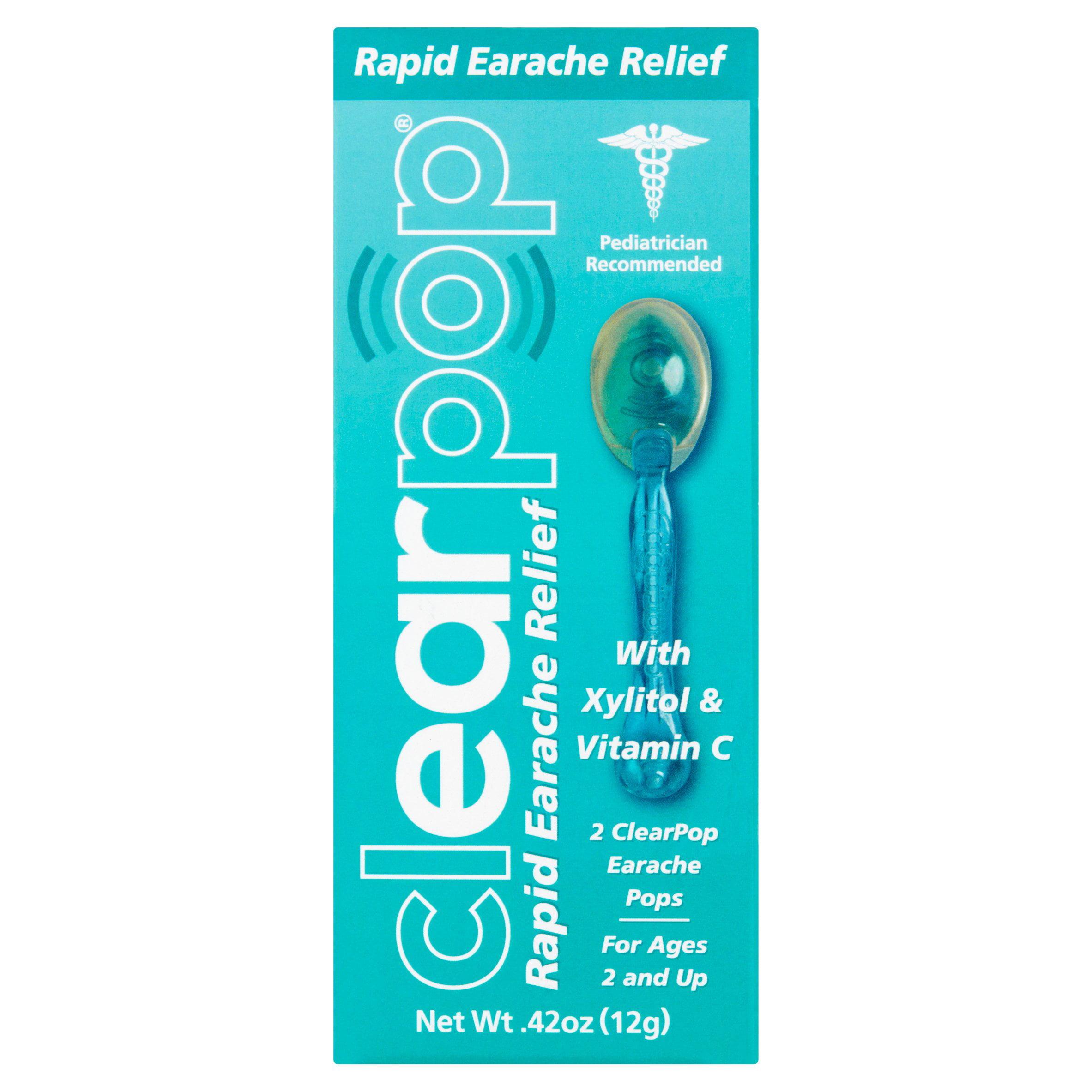 ClearPop Rapid Earache Relief Pops, 2 count, .42 oz