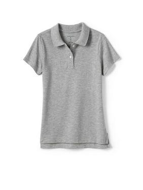 Lands' End 4-16 Girls School Uniform Short Sleeve Mesh Polo Shirt