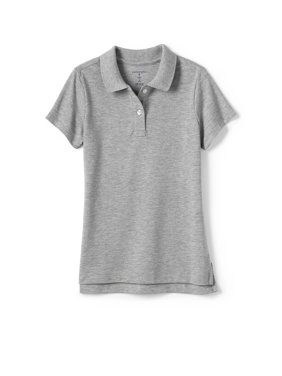 Lands' End Girls School Uniform Short Sleeve Mesh Polo (Little Girls & Big Girls)