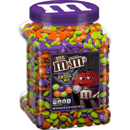 Halloween Speedy Mix (M&M'S Ghoul's Mix Milk Chocolate Halloween Candy Jar (62 oz.) Plus Bonus Rainbow Gumballs Perfect For All Ocassions Halloweeen, Back to school, Thanksgiving,)