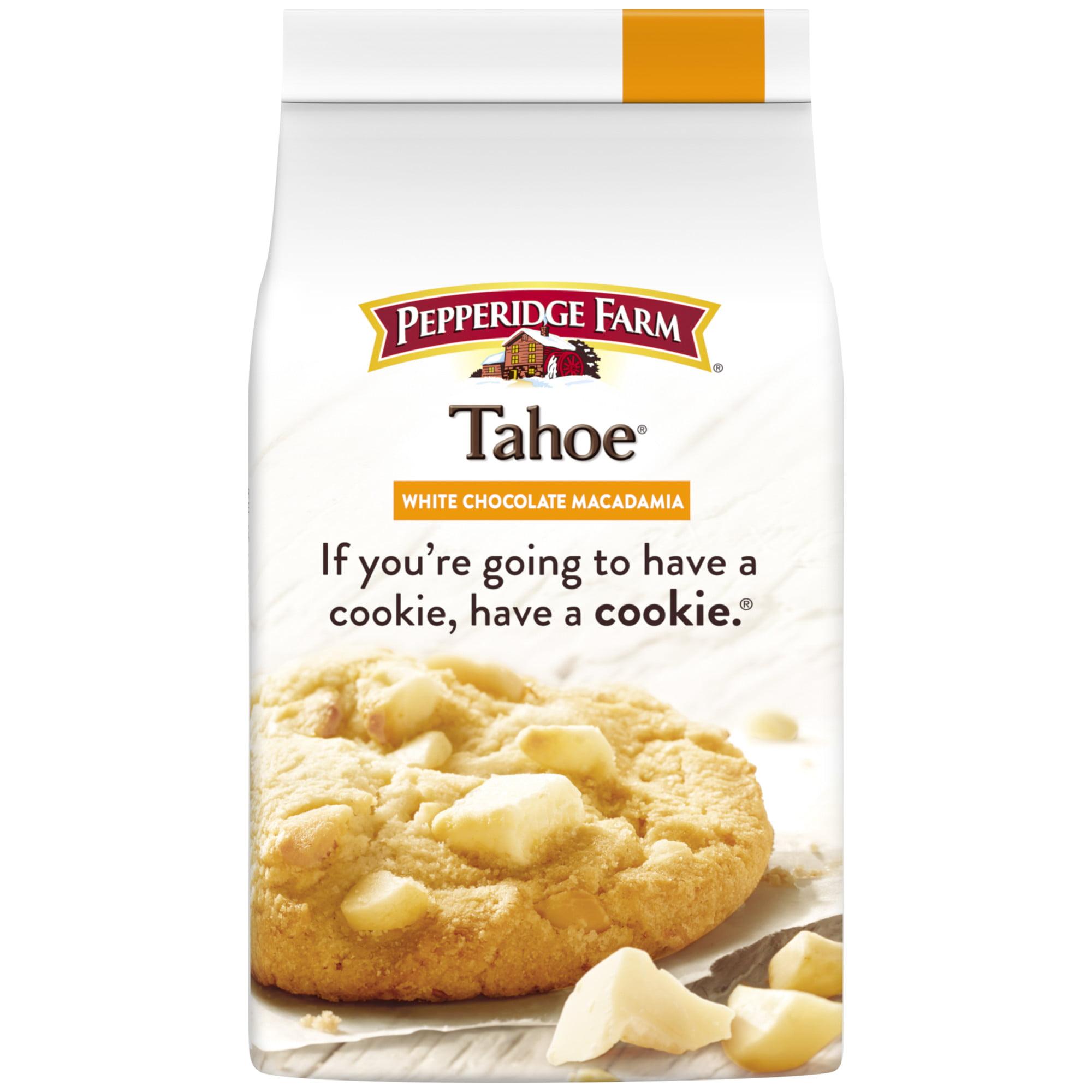 Pepperidge Farm Tahoe Crispy White Chocolate Macadamia Cookies 7 2 Oz Bag Walmart Com Walmart Com