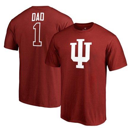 Indiana Hoosiers Fanatics Branded Number 1 Dad T-Shirt - Crimson